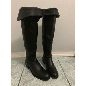 Delman Tall Black Leather Boots Size 7.5
